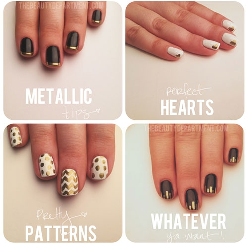 Nail Art Metallizzata Creativa e Unica