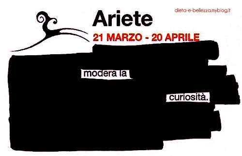 Oroscopo alternativo in stile blackout: Ariete